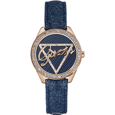 Guess Ladies Trend W0456L6 - Polshorloge - 36.5 mm - Leer - Blauw