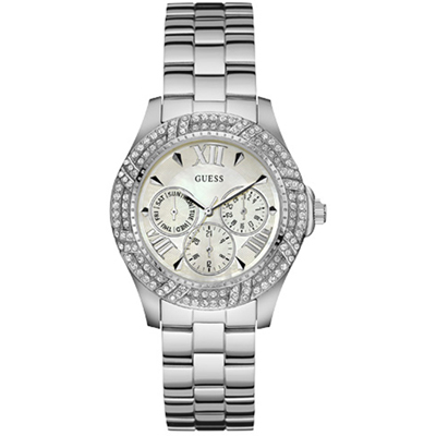 GUESS Watches - W0632L1 Shimmer - Polshorloge - 37 mm - Zilverkleurig