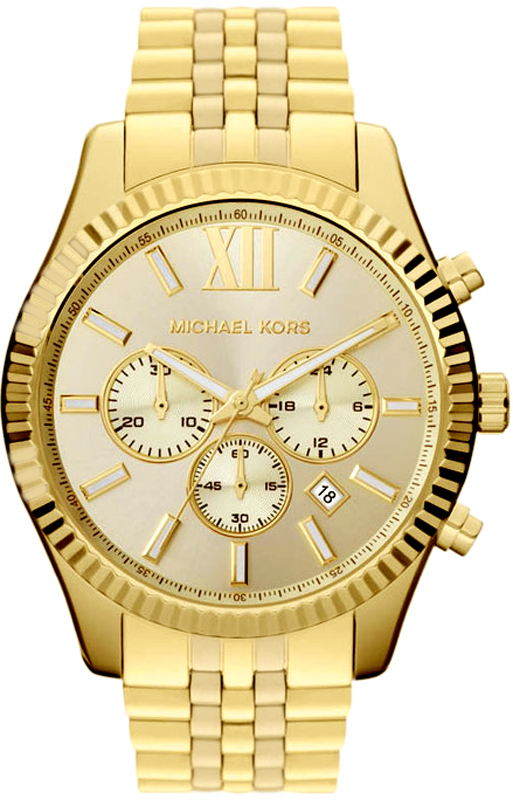 michael kors mk8281 mens chrono 39 s horloge lexington big. Black Bedroom Furniture Sets. Home Design Ideas