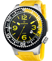 PO00249 Black-yellow silicone 52mm