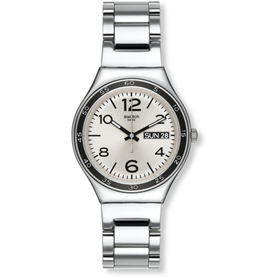 Swatch - Grey Shirt YGS766G -Polshorloge - 37 mm - Zilverkleurig