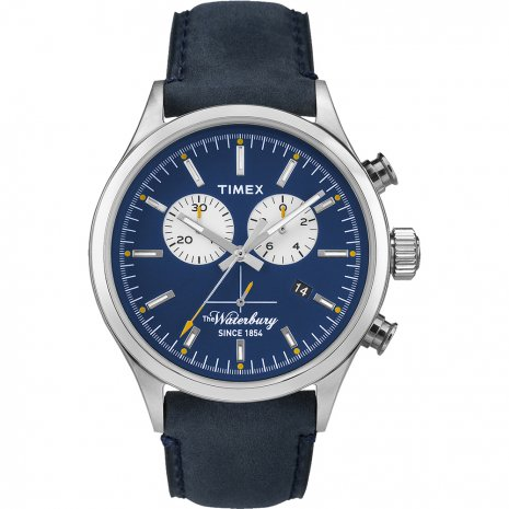 Timex The Waterbury Chrono TW2P75400 - Horloge - 44 mm - Blauw