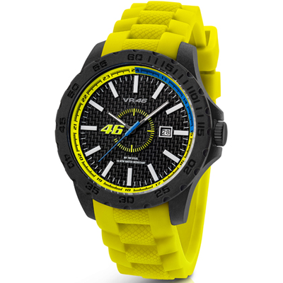 VR46 Collection by TW Steel -  Polshorloge  - 40 mm -  Carbon - Geel