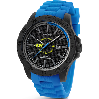 VR46 Collection by TW Steel -  Polshorloge  - 45 mm -  Carbon - Blauw