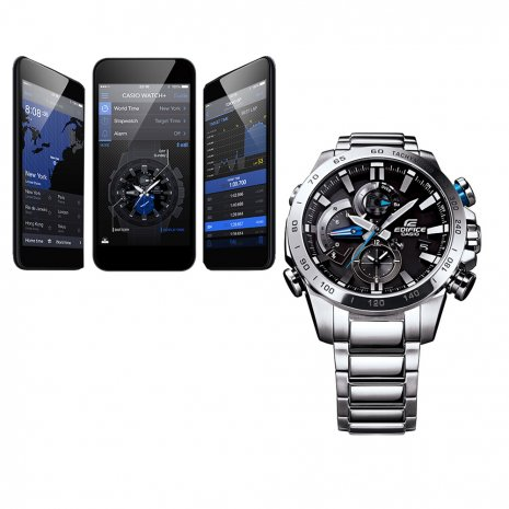 Stalen Chronograaf met Smartphone Link Herfst / Winter Collectie Casio Edifice