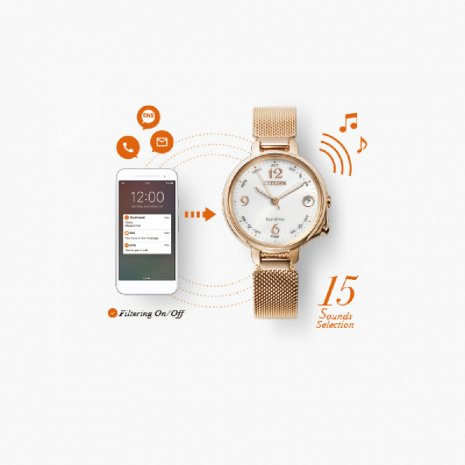 Eco-Drive smartwatch voor dames Herfst / Winter Collectie Citizen