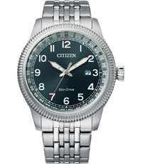 BM7480-81L Eco-Drive retro style watch 43mm