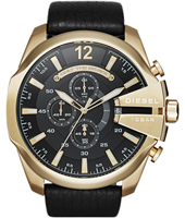 DZ4344 Mega Chief 52mm Zwart en goud XL chronograaf