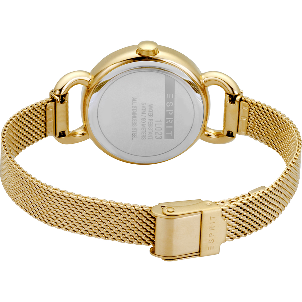 c441aab4af9 Esprit horloge Goud · horloge Goud Quartz · Goud dameshorloge met gratis  armband ...
