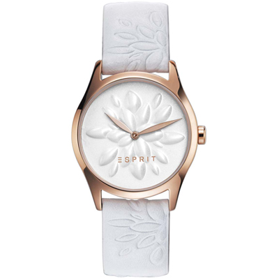 Esprit White Lilly Cadeauset: Horloge met armband