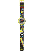 FLNP016 Hello Kitty Batgirl Swiss Made meisjeshorloge