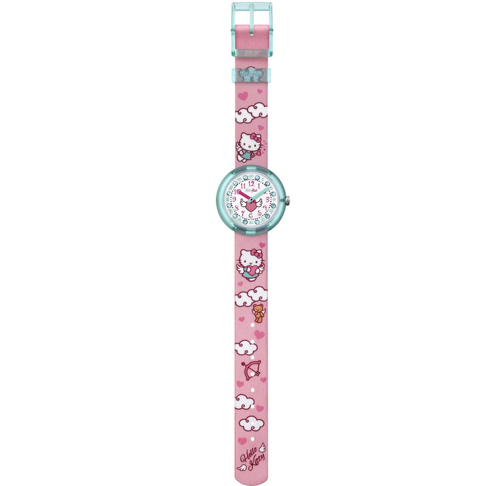 Hello Kitty Opbergkast.Flik Flak Flnp020 Hello Kitty Cupido Horloge Ean 7610522532670