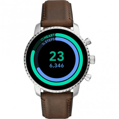Touchscreen Smartwatch met leren band - Gen4 Herfst / Winter Collectie Fossil