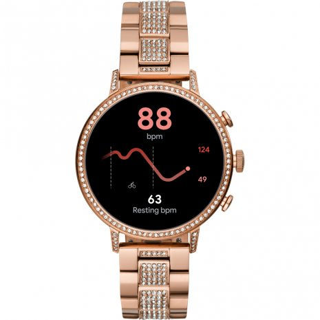 Touchscreen Smartwatch met roestvrijstalen band- Gen4 Herfst / Winter Collectie Fossil