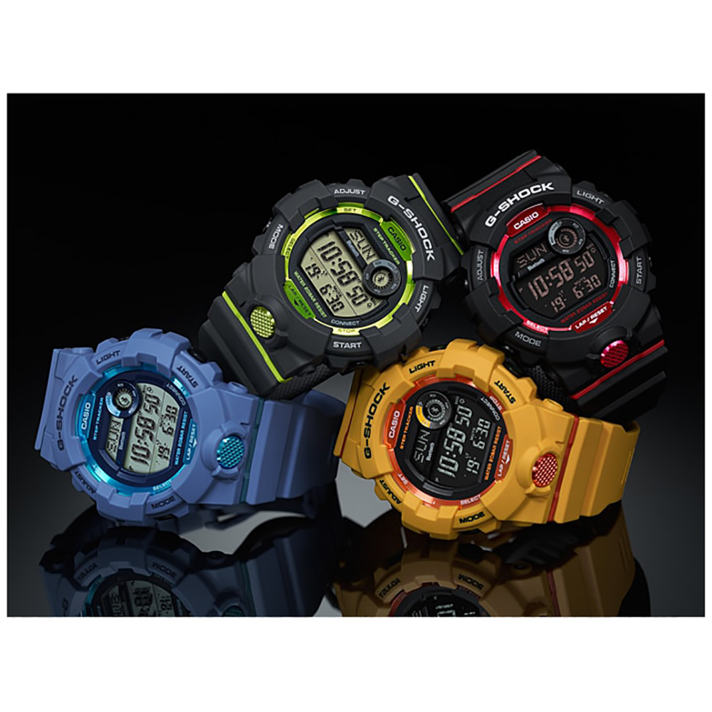 G Shock Zwart Met Rood.G Shock Classic Style Gbd 800 1 G Squad Bluetooth Horloge Ean