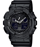 GA-100-1A1ER  51.20mm Large Zwart Ana-Digi G-Shock