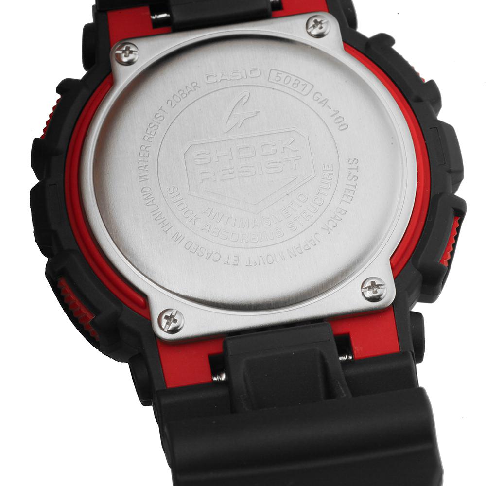 G Shock Zwart Met Rood.G Shock Classic Style Ga 100 1a4er Ga 100 1a4 Horloge Ean