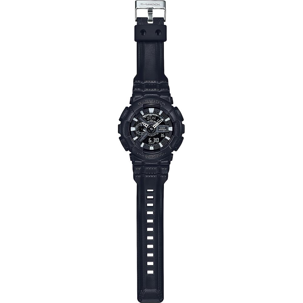 17fb8eaaaefa7e G-Shock Classic Style GA-110BT-1AER Black Out Texture horloge • EAN ...