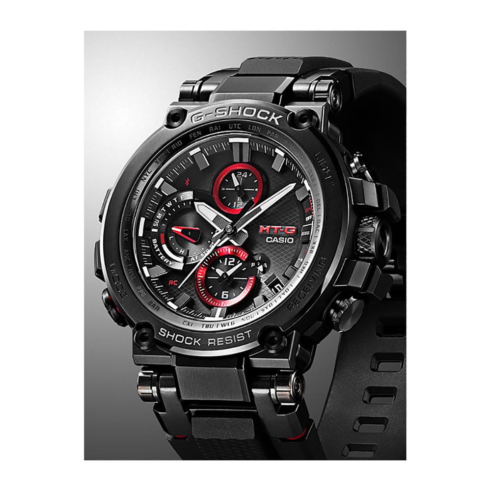 G Shock Zwart Met Rood.G Shock Mt G Mtg B1000b 1aer Metal Twisted G Horloge Ean