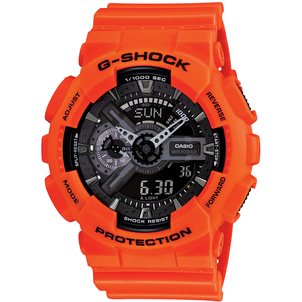 g shock ga 110mr 4aer horloge rescue orange. Black Bedroom Furniture Sets. Home Design Ideas
