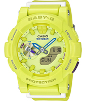 BGA-185-9AER Surf Girl 44mm Geel ana-digi dameshorloge