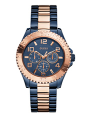 W0231L6 BFF 40mm Jeans blauw quartz dameshorloge