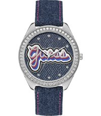 nieuwe authentiek rijgen in schoeisel Drew 44.5mm Retro-look horloge met denim band