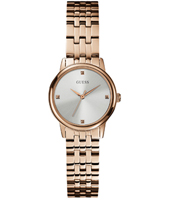 W0687L3 Lady Wafer 28mm Roségoud dameshorloge met zilveren wijzerplaat