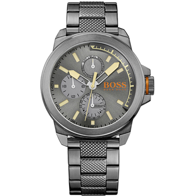 Hugo Boss New York Quartz herenhorloge met dag/datum