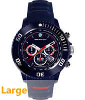 BM.CH.DBE.B.S.13 BMW Motorsport 48mm Donkerblauwe chrono maat Big