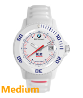 BM.SI.WE.U.S.13 BMW Motorsport 43mm Wit horloge maat Medium