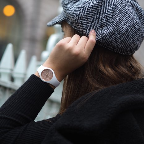 Wit dameshorloge, maat Small Herfst / Winter Collectie Ice-Watch