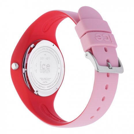 Roze-rood siliconenhorloge, maat Small Lente/Zomer collectie Ice-Watch