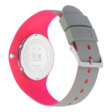 Khaki-roze siliconenhorloge, maat Medium Lente/Zomer collectie Ice-Watch