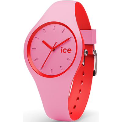 Ice-Watch Ice-Duo Roze en rood siliconen horloge