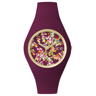 Ice-Watch Ice-Flower Wonderland Goud horloge met paarse siliconen band
