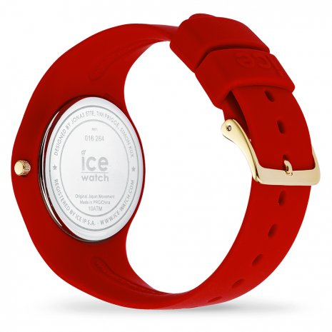 Rood-goud siliconen horloge, maat Medium Herfst / Winter Collectie Ice-Watch