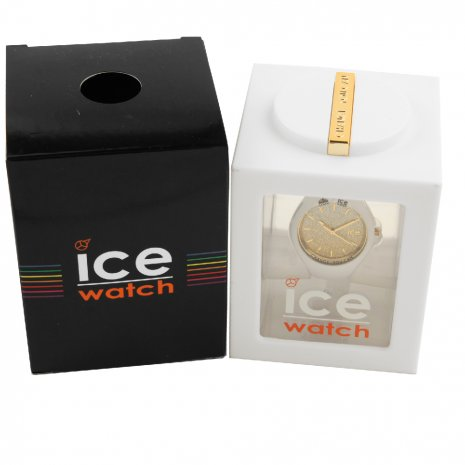 Wit dameshorloge met kristallen - Maat Small Lente/Zomer collectie Ice-Watch
