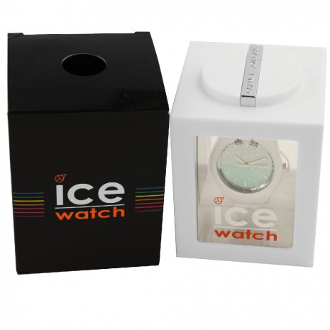 Wit dameshorloge met kristallen - Maat Medium Lente/Zomer collectie Ice-Watch