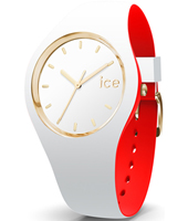 007239 Ice-Loulou 41mm Wit-goud siliconen horloge