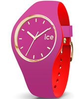 007243 Ice-Loulou 41mm Paars-goud siliconen horloge