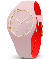 007244 Ice-Loulou 41mm Roze-goud siliconen horloge