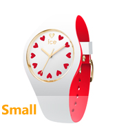 013370 Ice-Love 34mm White & red silicone watch