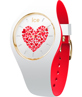013372 Ice-Love 41mm White & red silicone watch