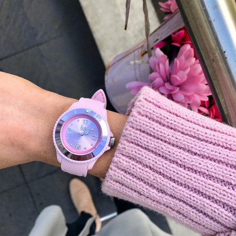 Pastelroze dames modehorloge, maat Medium Lente/Zomer collectie Ice-Watch