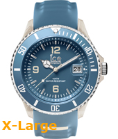 SR.3H.BSD.BB.S.15 Ice-Sporty  53mm Blauw & zandkleurig XL horloge