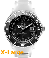 SR.3H.WBK.BB.S.15 Ice-Sporty  53mm Wit & zwart XL horloge