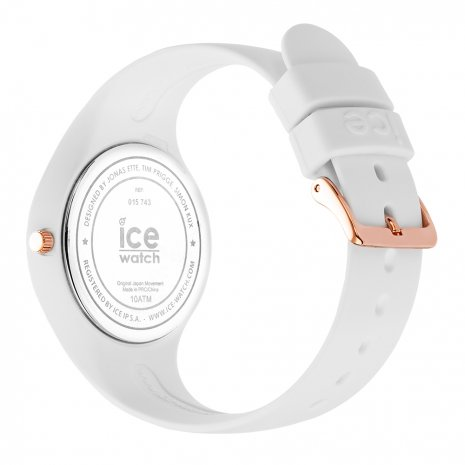 Roségoud-wit siliconen horloge, maat Small Lente/Zomer collectie Ice-Watch