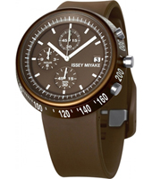 SILAT007 Trapezoid 43mm Bruine chrono met taps toelopende kast