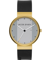 Jacob Jensen 736 New Dimension Zwart & Goud Designhorloge